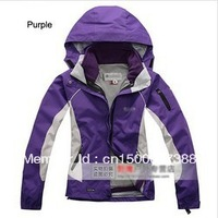 IN STOCK!2013 NEW women's Outdoor sport jackets Waterproof breathable windproof 3 layer 2in1 Outdoor coat Jacket free shipping
