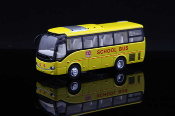 NickYard* Alloy bus small bus WARRIOR vocalization luminous plain alloy car model