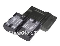 new 2 piece LP-E6 LPE6 camera Battery with charger For Canon 5D Mark ii III EOS 6D 7D 60D
