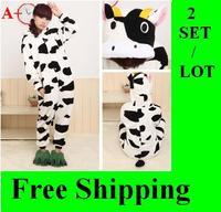 The milk cow onesies Pajamas Anime Cosplay Pyjamas Costume Hoodie Adult Onesie Party Dress size S M L  XL