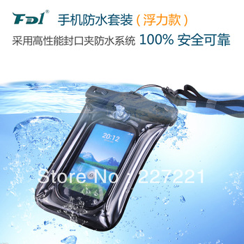 100% water dust snow proof case, waterproof, water protection, underwater dry bag for cell phones, universal waterproof bag