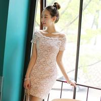 Free shipping 2014 New Fashion Women Cute Tony Lace Dress  Retail  Wholesale #12659