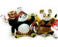 cartoon plush toy Panda do Kung Fu panda po Monkey Monkeyking Master TIGRESS Shifu 4 pcs 25cm doll soft toys stuffed animal baby