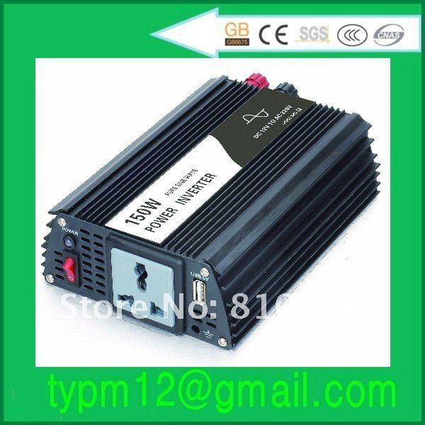 150W 12V To 220V 50HZ Pure Sine Wave DC To AC Car Power Inverter Free Shipping(China (Mainland))