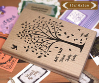 150*100 mm personalized custom stamp advanced glazing wood + rubber stamp