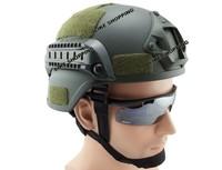 MICH 2000 Helmet Tactical Airsoft Paintball Helmet w/ NVG Mount Green