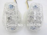 CLEAR LED Turn Signal FLUSH MOUNT For Suzuki GSXR GSX-R 600 K1 02 03 2001-2005 GSXR 750 01 02 03 2000-2005 GSXR 1000 2001-2004