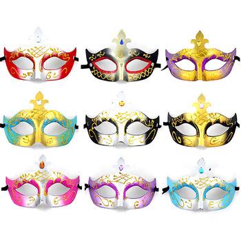 Wholesale Party /Wedding /Halloween /Venice /Masquerade /Cosplay /Festival/ Gold Powder Carnival Masks