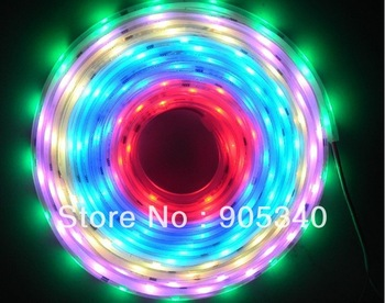 5m WS2811 IC 5050 digital LED magic Strip (256 scale)IP67 silicon tube waterproof,Multi color 12V Led Strip,10pcs IC and 30LED/m