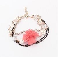 Min.order is $15(mix order)  New Arrival Fashion Bracelet Jewelry/Korean temperament small flowers of Diamond Bracelet