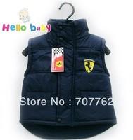 New arrival boys girls autumn winter wear classic vest kids cotton waistcoat 2-6years wear 5pcs/lot free shipping
