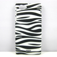 Black Zebra Hard Rubber Case Cover Skin For Sony For Sony Xperia J ST26i