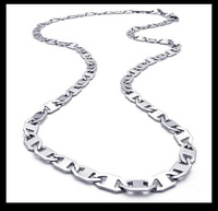 Wholesale\ Retail! Fashion Jewelry Gentle Stainless Steel Silver Link Neklace Chains For Men, Lowest Price Best Quality