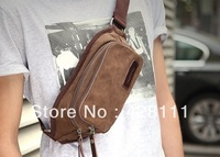 hot sale Waist Packs! Canvas+cow leather fashion handbags of high quality brand bags for men Waist Packs fanny packs