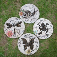 New arrival ushop fashion rustic pedal foot stone decoration  garden stepping stone