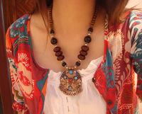 Special Tibet Nepal Tibetan ethnic jewelry Tibetan jewelry alloy necklace listing
