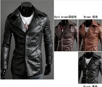 2013Classic Men's PU Leather Coat 3 Colors 4 Sizes free shopping,leather jacket,fashion jacket,racing jacket,leather sport suit