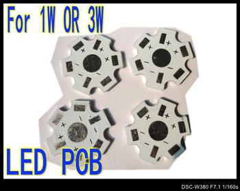 200pcs 1W 3W High Power LED Aluminum Base Plate LED PCB Circuit board wholesale