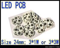 200pcs 3* 1W 3* 3W High Power LED Aluminum Base Plate LED PCB Circuit board wholesale