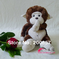 ChengYang brand dark brown little monkey stuffed animal 20cm