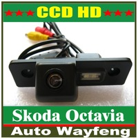 "Backup Camera wireless CCD 1/3"" car parking camera for VW Skoda Octavia Effective Pixels:728*582 night vision waterproof"