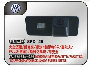 "wireless CCD 1/3"" car parking camera for VW POLO Hatchback/Magotan/Golf/New Bora 2008-2010/Jetta/Passat CC Night Vision"