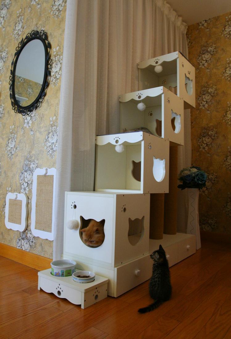 Домик для кошки деревянный
