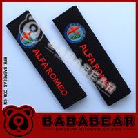 free shipping 1pairs Bababear car logo safety belt cover shoulder pad alfa romeo