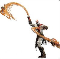 """Free Shipping God of War Kratos with Flaming Blades of Athena 7"""" PVC Action Figure Collection Model"""