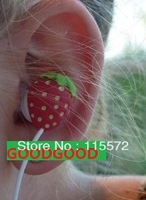 1pc Strawberry Headphone Earbuds Mobile MP5 Earphone New