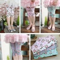 2014  Fashion Summer Girl Children's Printing Flower  Leggings,Children's Leggings pants for Girl 4colors Free shipping