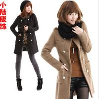 2013 spring women's autumn and winter woolen overcoat winter woolen outerwear wool trench