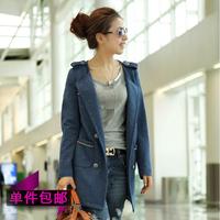 2013 spring elegant slim women's trench female outerwear spring and autumn fashion women's plus size