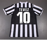 2013-2014 Juventus Home Soccer Jersey Player Version With SCUDETTO TEVEZ # 10, Top Thailand Quality Juventus Soccer Jerseys.