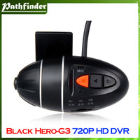 Model:Black Hero G3 Novatek 1.3Mega Pixels CMOS Sensor 720P HD Vehicle Black Box DVR (Black)