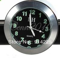 """Chrome 1"""" Handlebar Bar Mount Clock for Honda Shadow VTX Kawasaki Suzuki Yamaha   Free shipping"""