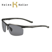 Helen keller male aluminum magnesium large sunglasses polarized sunglasses fashionable casual sunglasses h1385