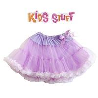 4pcs/lot(3t,4t,5t,6t)summer girl kids grace purple princess bitter fleabane bitter fleabane gauze skirt with bowknot decoration