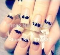 20 pieces/lot Nail Art Stickers  nail art decorations  nail art Decal  new style personality beard Nail polish sticker BLE982D