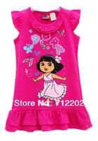 Free shipping 2013 new love adventure, Dora's summer Dora short-sleeved dress children girl Baby Rose