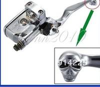 "1"" Motor Skull Brake Master Cylinder Right For 04-11 Harley-Davidson Chrome   Free shipping"