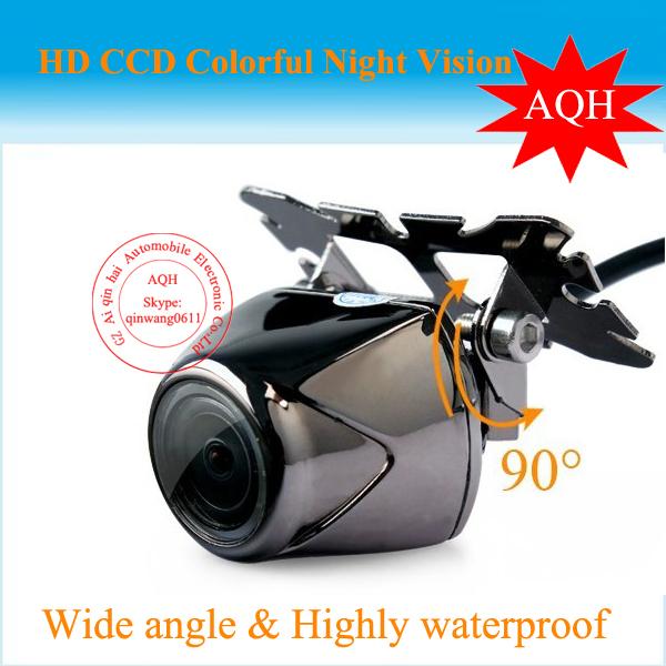 100% HD CCD Free shipping 170 Degree IR Nightvision Waterproof Car Rear view camera Reverse paking for Universal(China (Mainland))