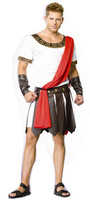 adult Cosplay costume ancient Roman warriors gladiator dressing white shirt leather skirt  free shipping 1 set/lot