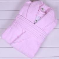 Bathrobes quality 100% women's jacquard cotton terry bathrobe robe
