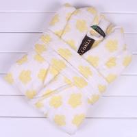 Bathrobes quality thickening 100% women's cotton jacquard bathrobe robe