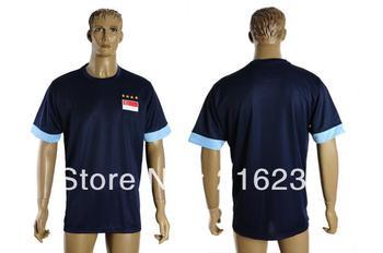 2013-14 Singapore away ordinary Thai version soccer jerseys trainning jerseys football T-shirts 5sets/lot dark bule ize S-XL