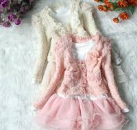 2013 Autumn Girls  long sleeve dresses  two colours  SUIT
