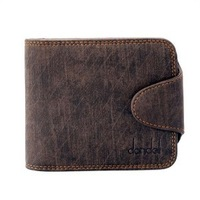 Free shipping male wallet cowhide wallet short design wallet multifunctional strap buckle wallet multi-color style