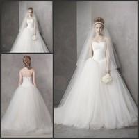 WD029 Sexy Brand Designer Hot Trendy Sweetheart A Line Tulle Bridal Gown Wedding Dress 100% Handmade Custom Made