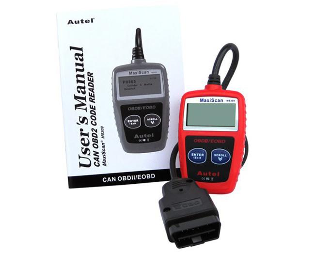 Оборудование для диагностики авто и мото MaxiScan MS309 OBD2 Eobd can/10pcs/lot оборудование для диагностики авто и мото none 5pcs bmw usb obd 2 ii inpa k k dcan usb 20 obdii